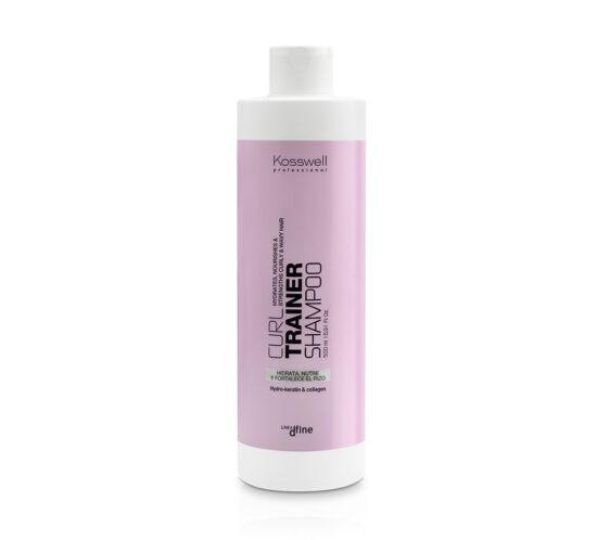 curl trainer shampoo línea dfine especial cabellos rizados hidrata nutre y fortalece el rizo